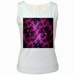 Fractal Art Digital Art Women s White Tank Top by Onesevenart