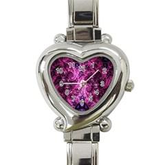 Fractal Art Digital Art Heart Italian Charm Watch by Onesevenart