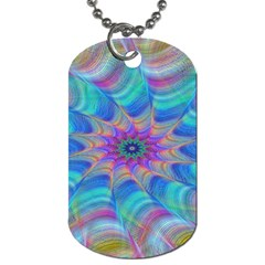 Fractal Curve Decor Twist Twirl Dog Tag (two Sides) by Onesevenart