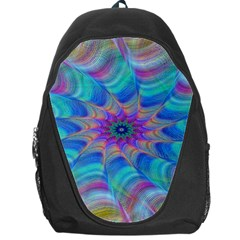 Fractal Curve Decor Twist Twirl Backpack Bag by Onesevenart