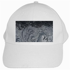 Abstract Art Decoration Design White Cap by Onesevenart