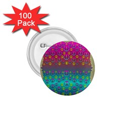 Years Of Peace Living In A Paradise Of Calm And Colors 1 75  Buttons (100 Pack)  by pepitasart