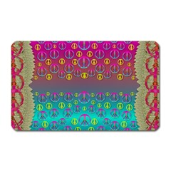Years Of Peace Living In A Paradise Of Calm And Colors Magnet (rectangular) by pepitasart