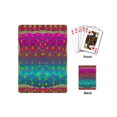Years Of Peace Living In A Paradise Of Calm And Colors Playing Cards (mini)  by pepitasart