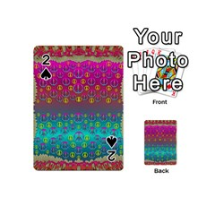 Years Of Peace Living In A Paradise Of Calm And Colors Playing Cards 54 (mini)  by pepitasart