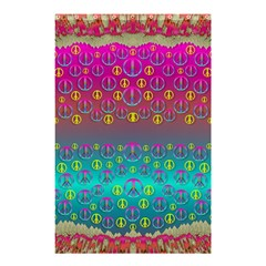 Years Of Peace Living In A Paradise Of Calm And Colors Shower Curtain 48  X 72  (small)  by pepitasart