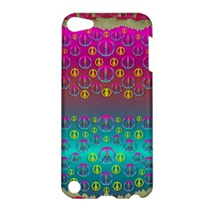 Years Of Peace Living In A Paradise Of Calm And Colors Apple Ipod Touch 5 Hardshell Case by pepitasart