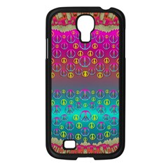 Years Of Peace Living In A Paradise Of Calm And Colors Samsung Galaxy S4 I9500/ I9505 Case (black) by pepitasart