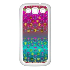 Years Of Peace Living In A Paradise Of Calm And Colors Samsung Galaxy S3 Back Case (white) by pepitasart