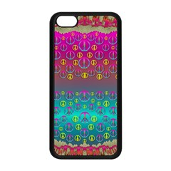 Years Of Peace Living In A Paradise Of Calm And Colors Apple Iphone 5c Seamless Case (black) by pepitasart