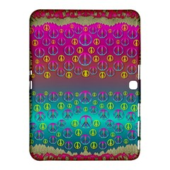 Years Of Peace Living In A Paradise Of Calm And Colors Samsung Galaxy Tab 4 (10 1 ) Hardshell Case  by pepitasart