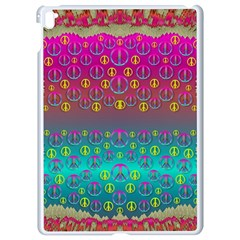 Years Of Peace Living In A Paradise Of Calm And Colors Apple Ipad Pro 9 7   White Seamless Case by pepitasart