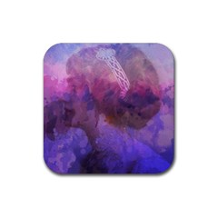 Ultra Violet Dream Girl Rubber Square Coaster (4 Pack)  by 8fugoso