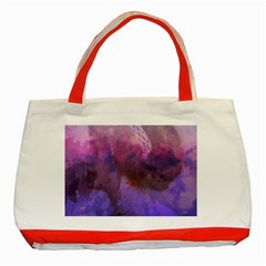 Ultra Violet Dream Girl Classic Tote Bag (red) by 8fugoso