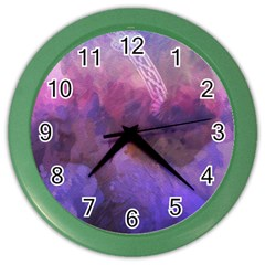 Ultra Violet Dream Girl Color Wall Clocks by 8fugoso