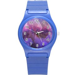 Ultra Violet Dream Girl Round Plastic Sport Watch (s) by 8fugoso