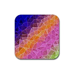 Crystalized Rainbow Rubber Square Coaster (4 Pack)  by 8fugoso