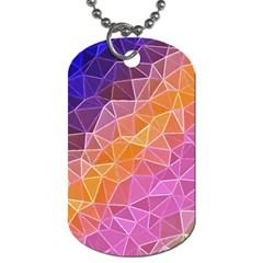 Crystalized Rainbow Dog Tag (two Sides) by 8fugoso