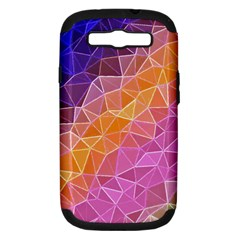 Crystalized Rainbow Samsung Galaxy S Iii Hardshell Case (pc+silicone) by 8fugoso