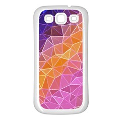 Crystalized Rainbow Samsung Galaxy S3 Back Case (white) by 8fugoso