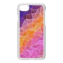 Crystalized Rainbow Apple Iphone 8 Seamless Case (white) by 8fugoso