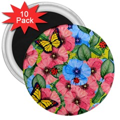 Floral Scene 3  Magnets (10 Pack)  by linceazul