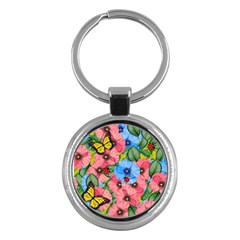 Floral Scene Key Chains (round)  by linceazul