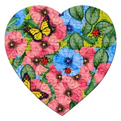 Floral Scene Jigsaw Puzzle (heart) by linceazul