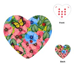 Floral Scene Playing Cards (heart)  by linceazul