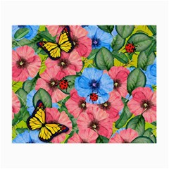 Floral Scene Small Glasses Cloth (2 Side) by linceazul