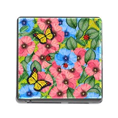 Floral Scene Memory Card Reader (square) by linceazul