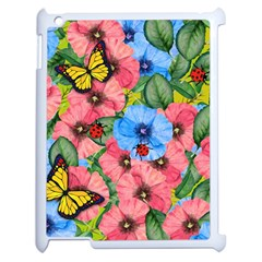Floral Scene Apple Ipad 2 Case (white) by linceazul