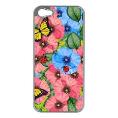 Floral Scene Apple Iphone 5 Case (silver) by linceazul