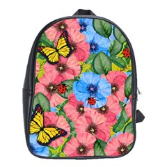 Floral Scene School Bag (xl) by linceazul