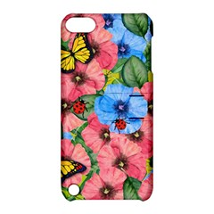 Floral Scene Apple Ipod Touch 5 Hardshell Case With Stand by linceazul