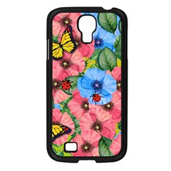 Floral Scene Samsung Galaxy S4 I9500/ I9505 Case (black) by linceazul