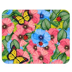 Floral Scene Double Sided Flano Blanket (medium)  by linceazul