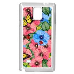 Floral Scene Samsung Galaxy Note 4 Case (white) by linceazul