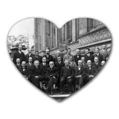 1927 Solvay Conference On Quantum Mechanics Heart Mousepads by thearts
