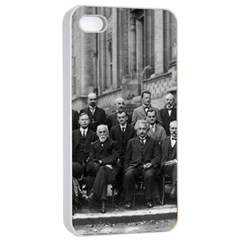 1927 Solvay Conference On Quantum Mechanics Apple Iphone 4/4s Seamless Case (white) by thearts