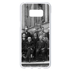 1927 Solvay Conference On Quantum Mechanics Samsung Galaxy S8 Plus White Seamless Case by thearts