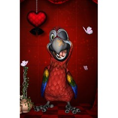 Funny, Cute Parrot With Butterflies 5 5  X 8 5  Notebooks by FantasyWorld7