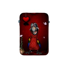 Funny, Cute Parrot With Butterflies Apple Ipad Mini Protective Soft Cases by FantasyWorld7