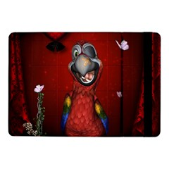 Funny, Cute Parrot With Butterflies Samsung Galaxy Tab Pro 10 1  Flip Case by FantasyWorld7