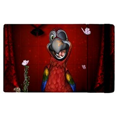 Funny, Cute Parrot With Butterflies Apple Ipad Pro 12 9   Flip Case by FantasyWorld7