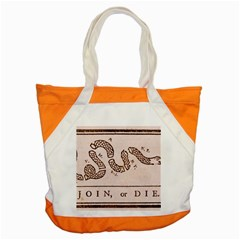 Original Design, Join Or Die, Benjamin Franklin Political Cartoon Accent Tote Bag by thearts