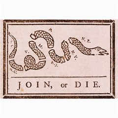 Original Design, Join Or Die, Benjamin Franklin Political Cartoon Canvas 20  X 30   by thearts