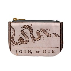 Original Design, Join Or Die, Benjamin Franklin Political Cartoon Mini Coin Purses by thearts
