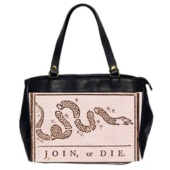 Original Design, Join Or Die, Benjamin Franklin Political Cartoon Office Handbags (2 Sides)  by thearts