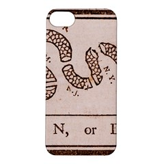 Original Design, Join Or Die, Benjamin Franklin Political Cartoon Apple Iphone 5s/ Se Hardshell Case by thearts